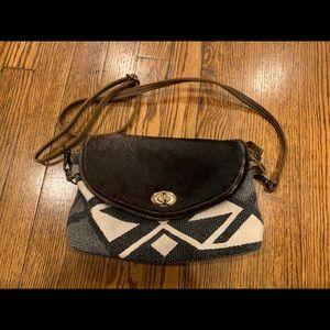 Like New Myra Bag cowhide and canvas bag